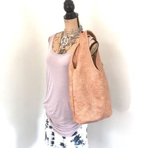 Old Navy shoulder bag faux leather intrenciato EUC